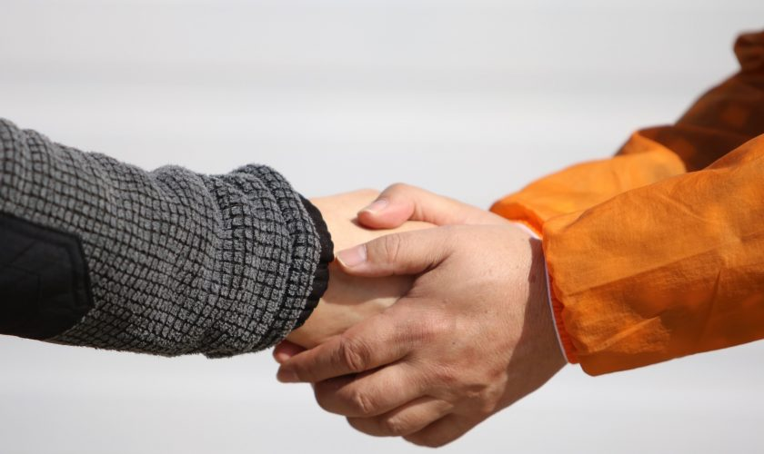 People Hand Male Handshake Man Ask Election Deal